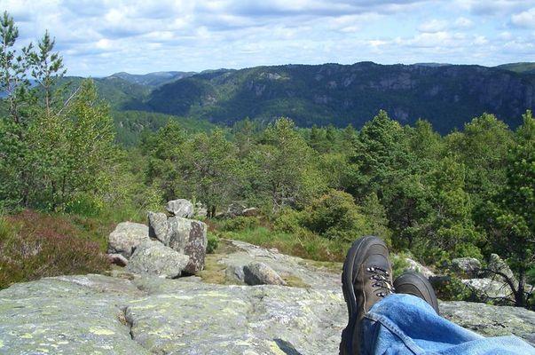 Ich und meine Füße in Norwegen