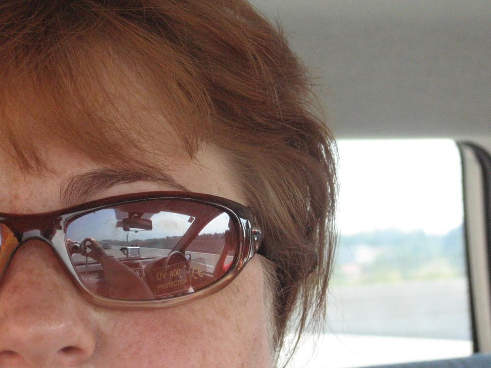 Ich und neue Sonnenbrille