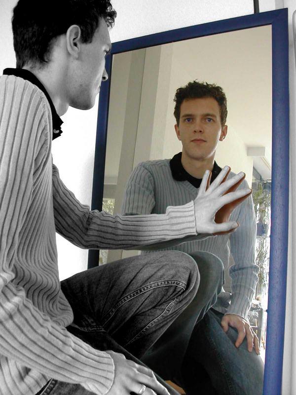 Ich vor'm Spiegel