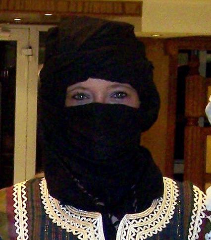 Ich wollte immer mal wie ein Tuareg aussehen!