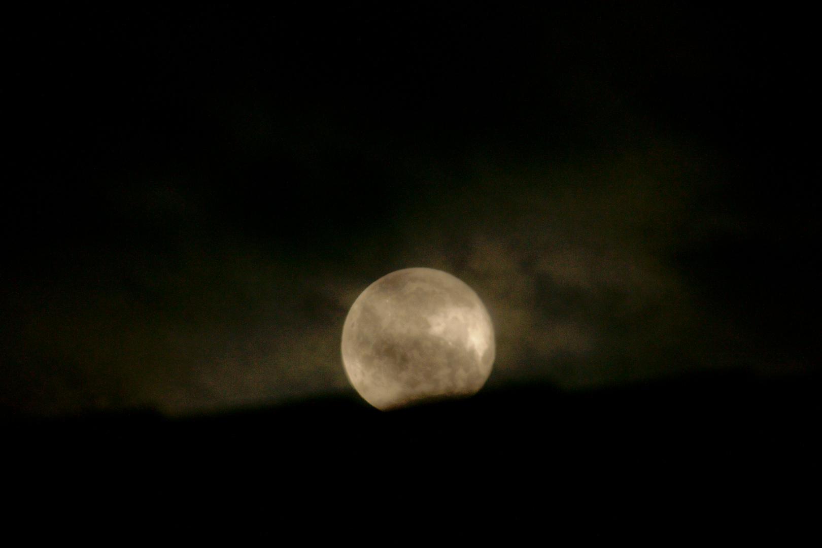 """""""Ich ziehe noch ein bisschen um die Häuser!"""", sagte der Mond und machte sich auf den Weg."""