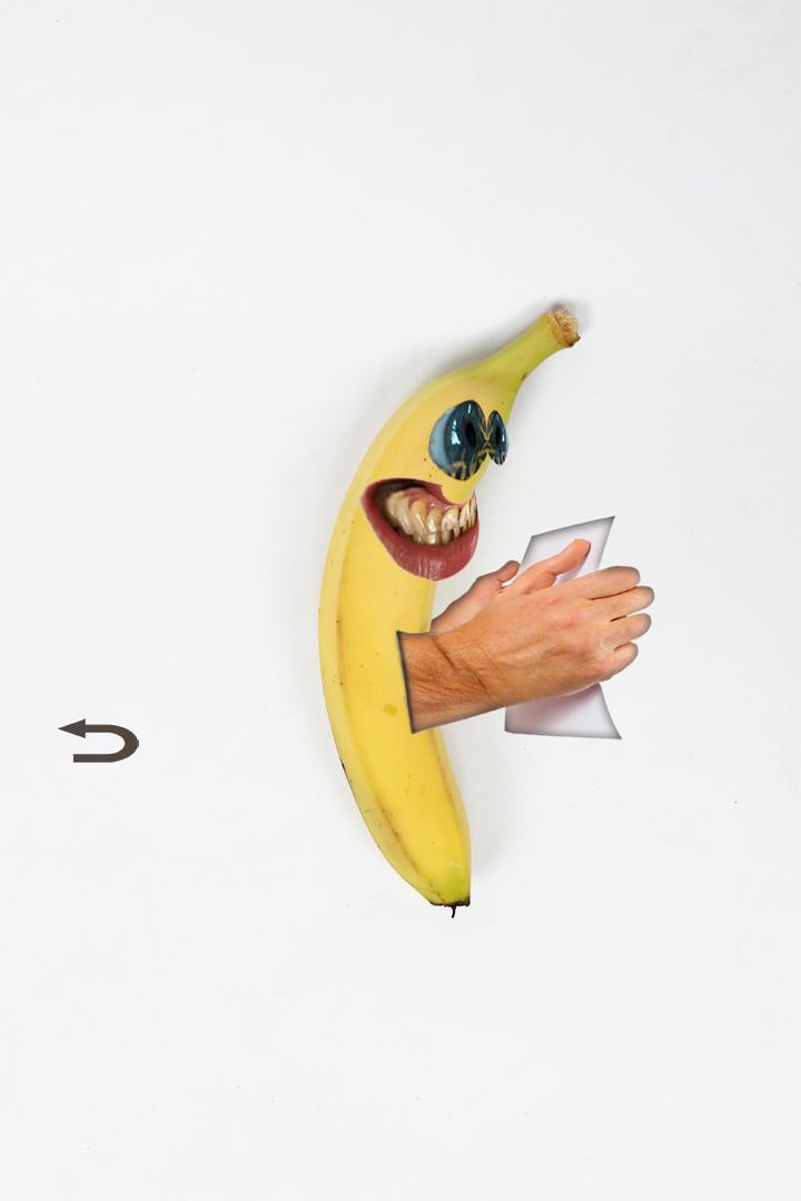 Ick - bin - ein - Banane - nach - links