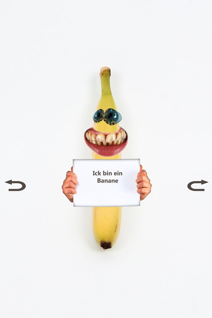 Ick - bin - ein - Banane - von - vorne