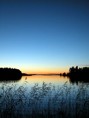 Idylle am Suvasvesi-See, Finnland