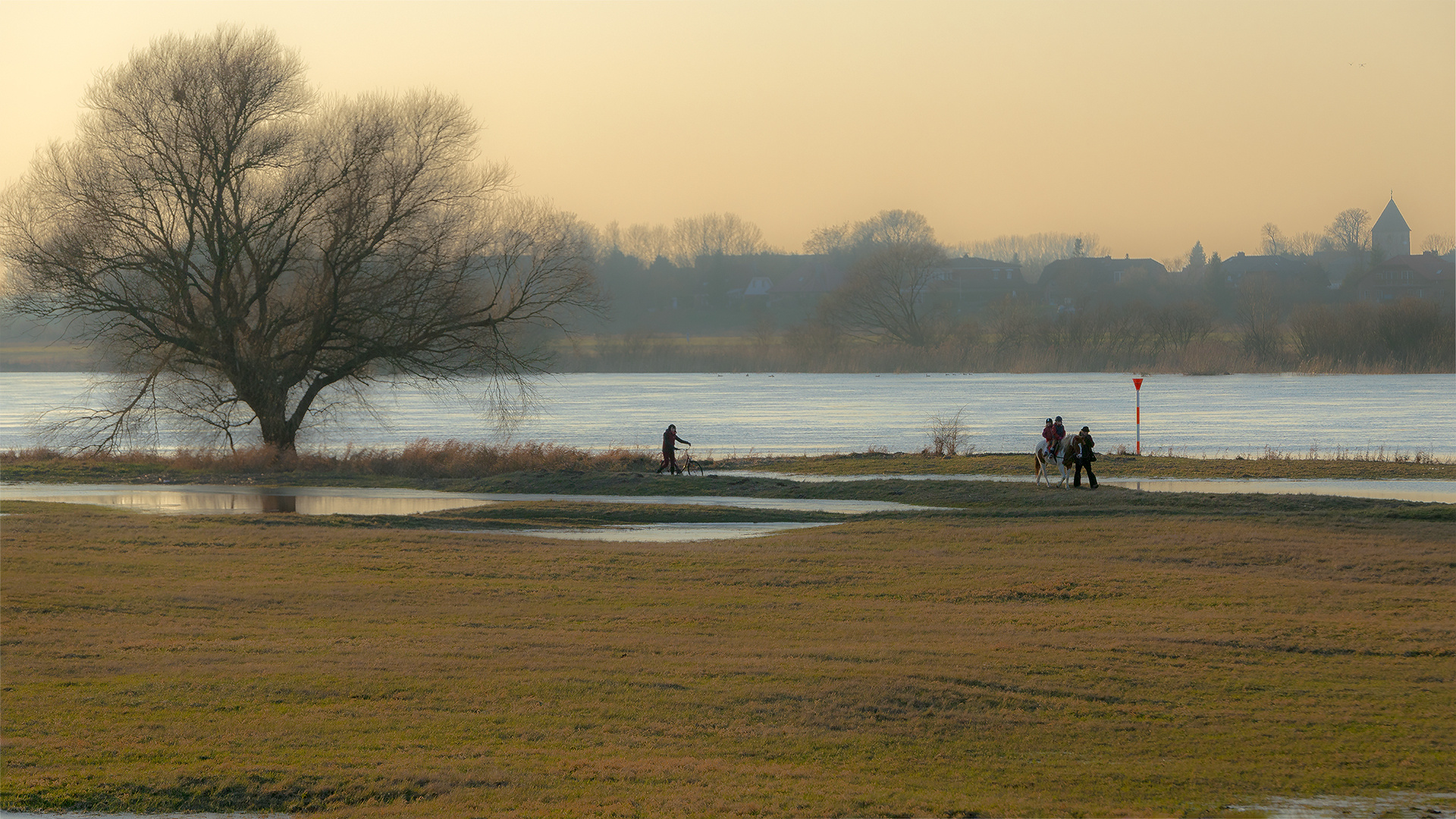 Idylle an der Elbe