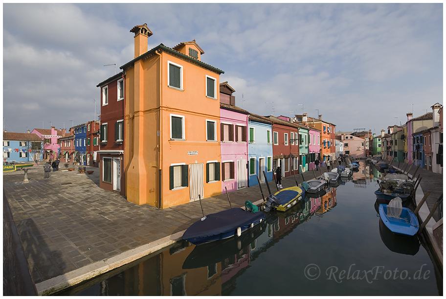 """Idylle"" - Szene auf der Insel Burano bei Venedig"