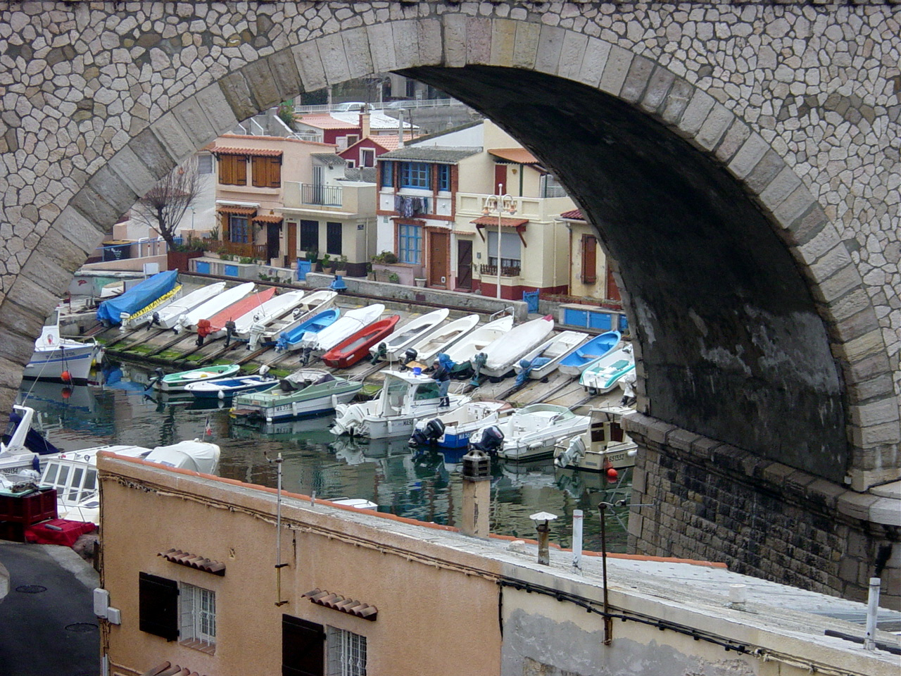 Idyllischer Hafen am Mittelmeer