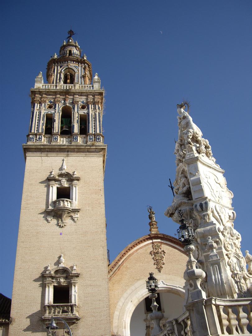 Iglesia de Santa Maria y Monumento a la Virgen de Valle, Ecija Sevilla