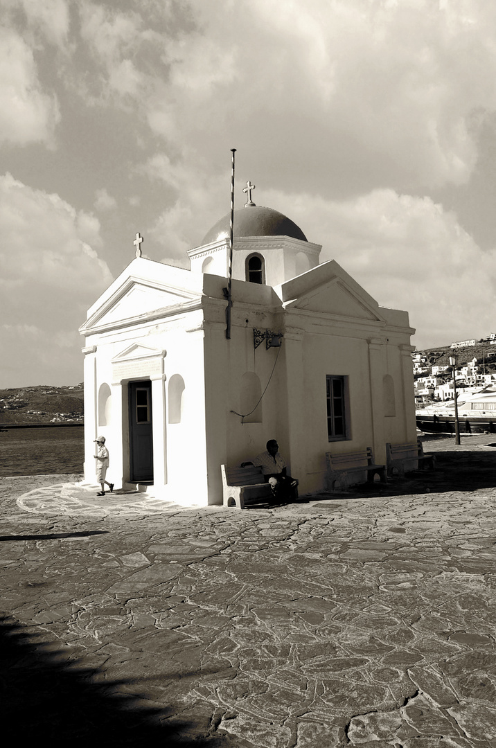 iglesia en mykonos