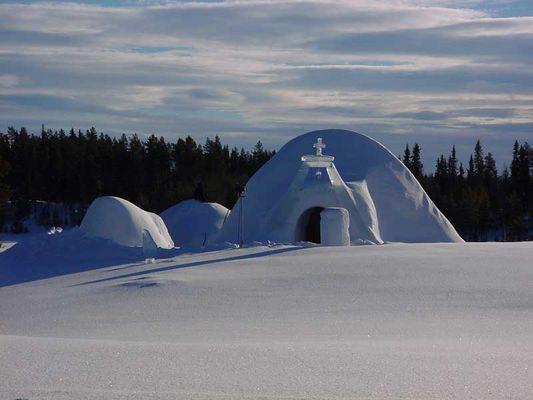 Iglu Nordschweden