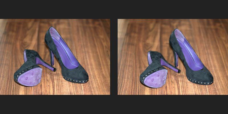 Ihre Schuhe - Kreuzblick 3D
