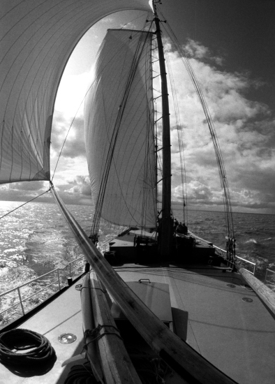 Ijsselmeer, gesehen vom Plattbodenschiff