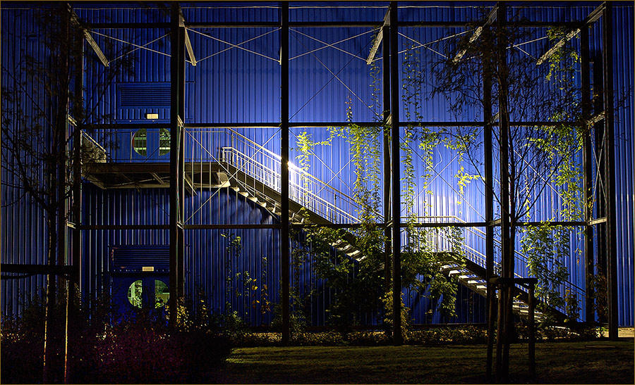 Ikea bei Nacht!
