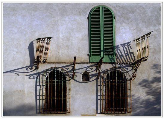 il balcone distrutto...