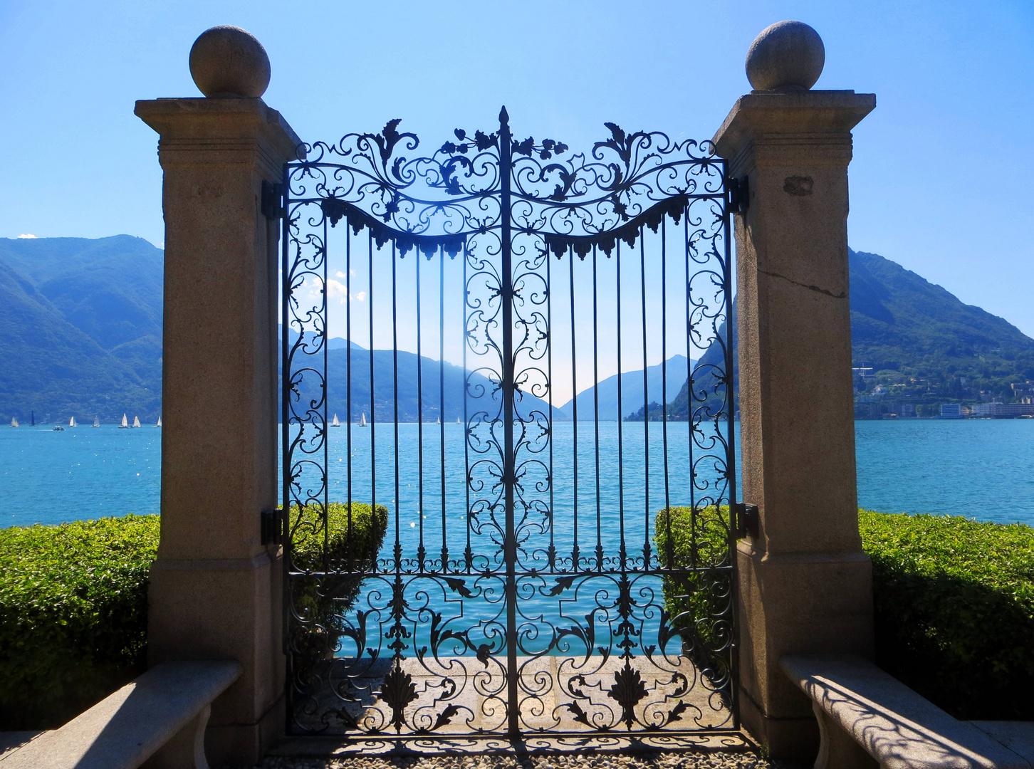 Il cancello del Lago di Lugano ...