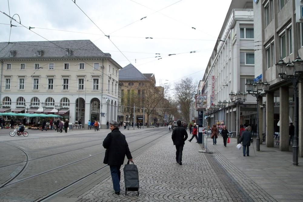 il centro di Karlsruhe