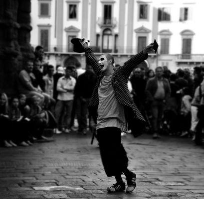 Il clown a Firenze