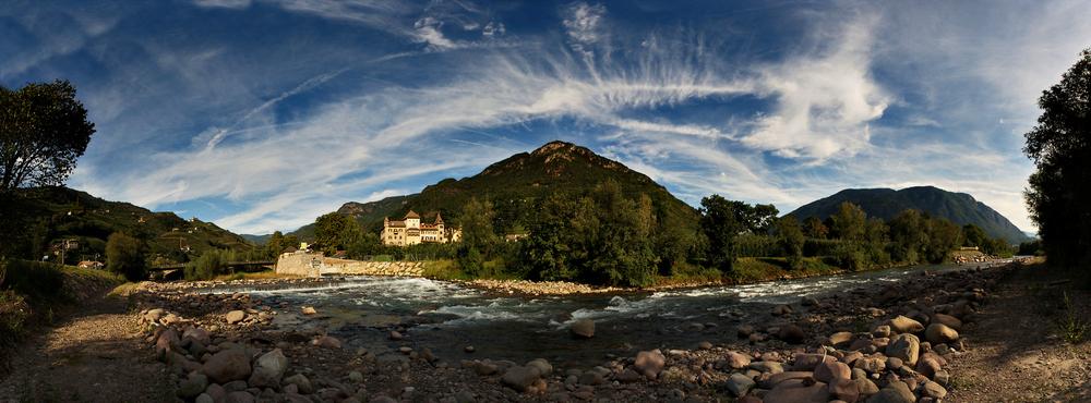 Il fiume Talvera alla città di Bolzano