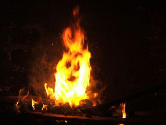 il fuoco sulla fucina