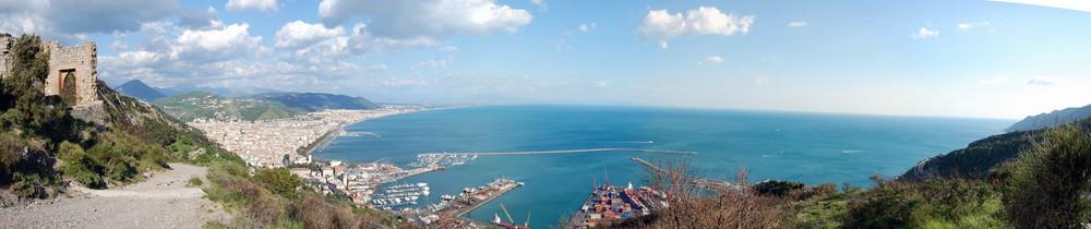 Il golfo di Salerno da San Liberatore di Cava de' Tirreni