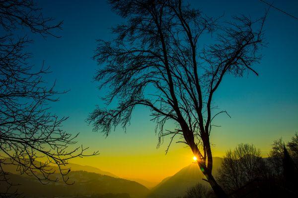 """il """"guardiano"""" che veglia sul tramonto..."""