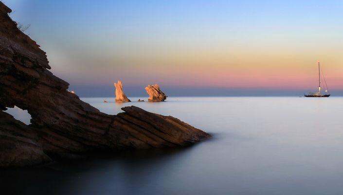 il mare calmo della sera....2