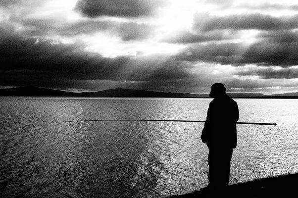 Il pescatore (b/n)