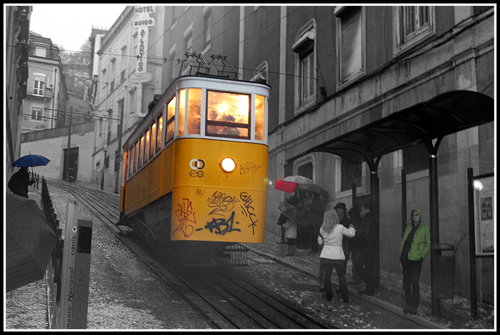 Il pleut sur Lisbonne
