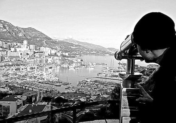 Il porto di Montecarlo dall'alto