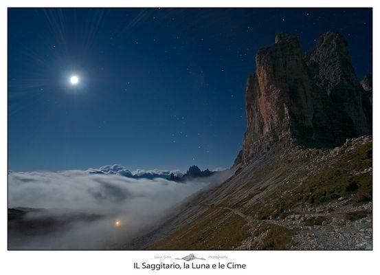 Il Saggittario, la Luna e le Cime