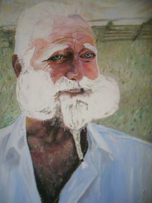 Il Signor Buffabarba Quadro ad olio su tela
