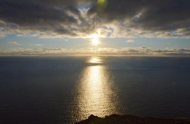 Il sole di mezzanotte a Capo Nord