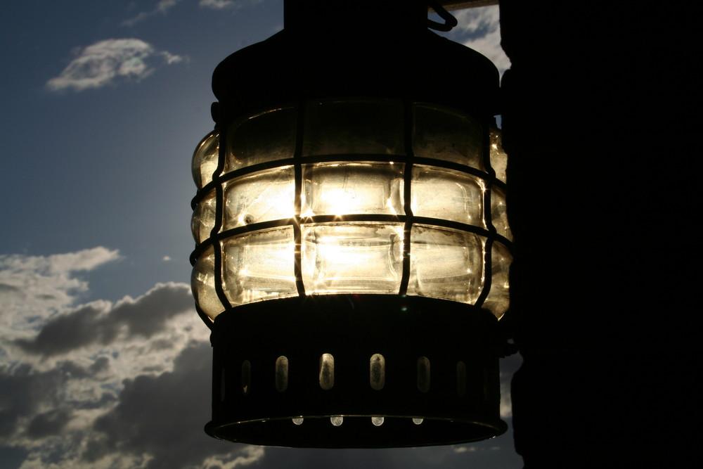 il sole in una lampada