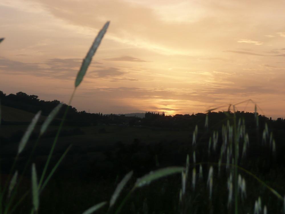 il sole va a dormire