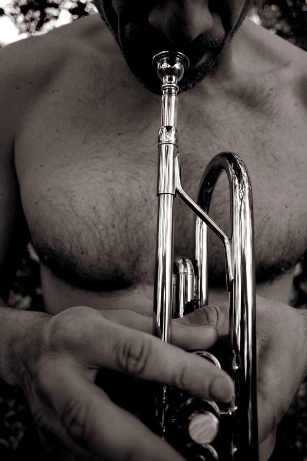 il suono dei tasti di una tromba