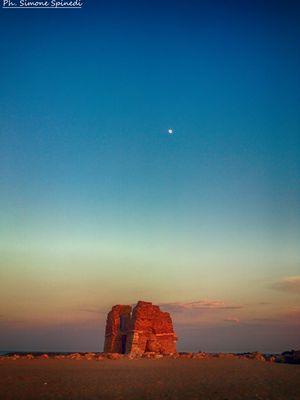 Il tramonto di Torre Flavia