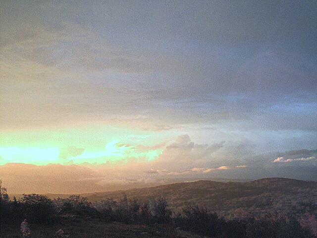 Il tramonto doppo la temepsta