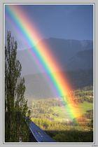 Il y aurait un trésor au pied de l'arc en ciel ...
