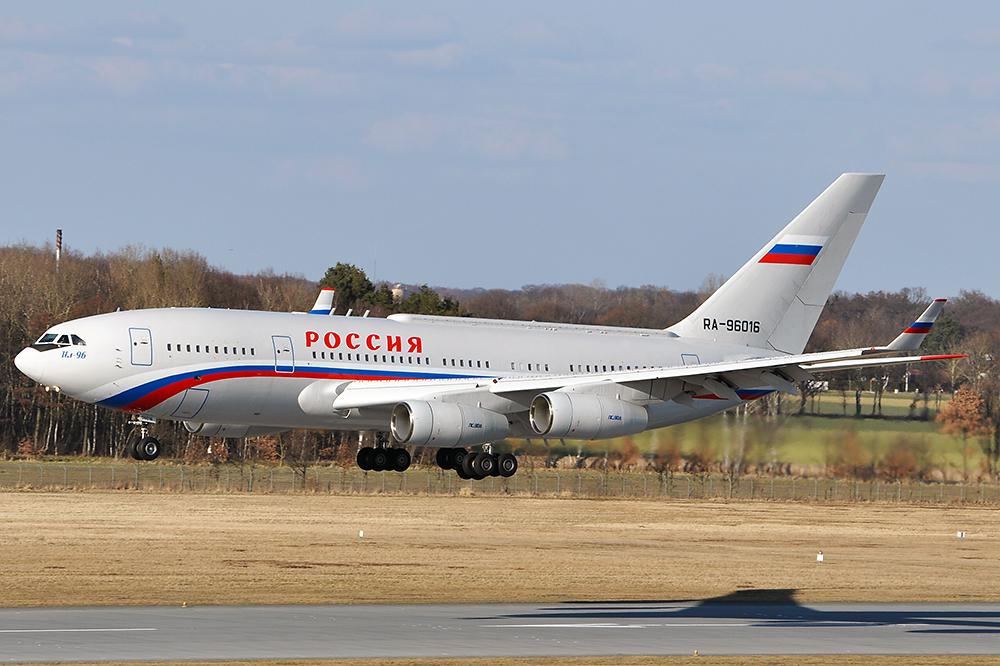 Il96 der Präsident von Russland fliegt in Hannover ein...