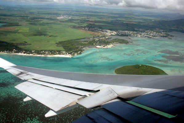 Ile maurice vue d'avion