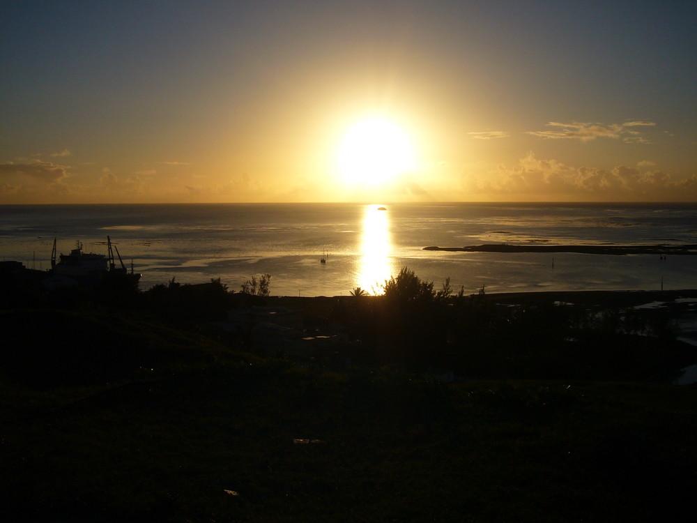 Ile Rodrigues- Coucher de soleil