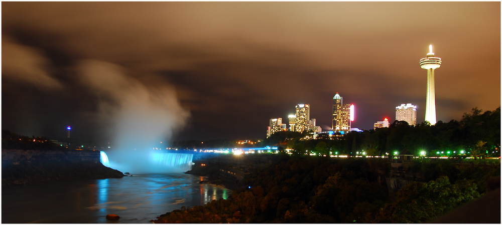Illuminated Niagara Falls