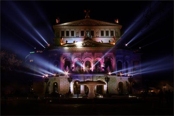 .Illumination Oper Frankfurt.