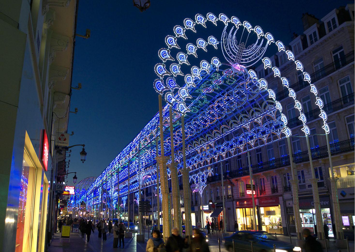 Illuminations de no l rue faidherbe lille photo et image europe france nord pas de calais for Illumination exterieure pour noel