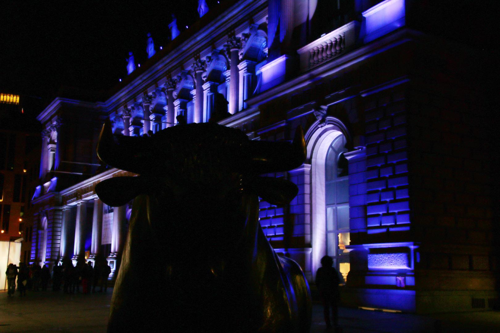 Illuminierte Börse