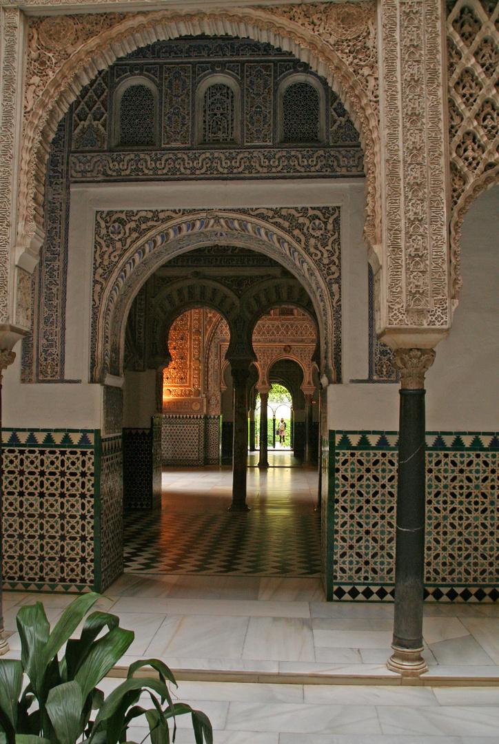 Im Alcazar von Sevilla