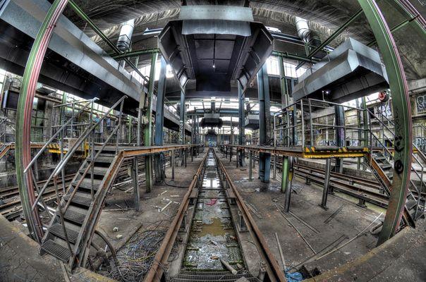 Im alten Dampflok-Betriebswerk