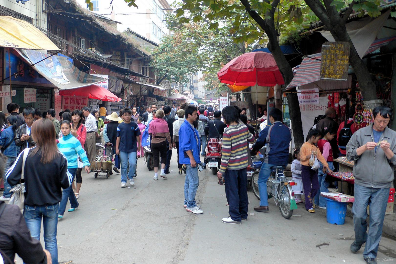 Im alten Stadtviertel von Kunming