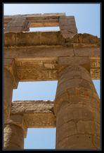 Im Amon-Tempel in Karnak..