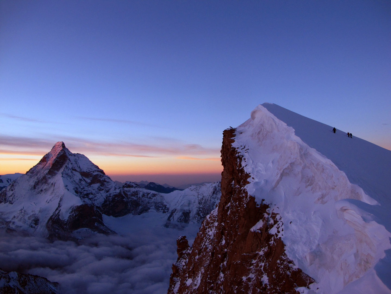 Im Aufstieg zur Dent Blanche 4357m, Wallis Schweiz